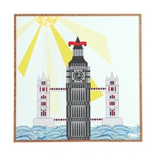 London Big Ben by Jennifer Hill Framed Graphic Art Plaque