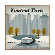 Central Park Snow by Anderson Design Group Framed Vintage Advertisement Plaque