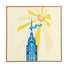 New York City Chrysler Building by Jennifer Hill Framed Graphic Art Plaque