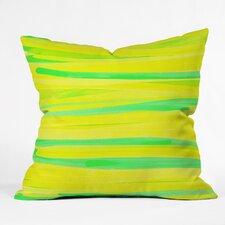 Rebecca Allen Lime Strokes Outdoor Throw Pillow