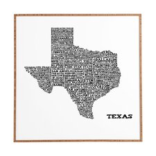 Texas Map by Restudio Designs Framed Graphic Art Plaque