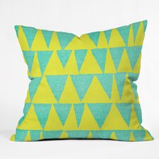 Nick Nelson Analogous Shapes with Gold Outdoor Throw Pillow