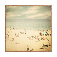 Vintage Beach by Shannon Clark Framed Photographic Print Plaque