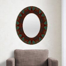 Wagner Campelo Mandala 3 Oval Mirror