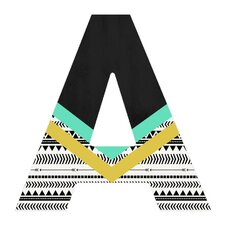 Allyson Johnson Mixed Aztec Hanging Initial
