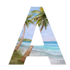 Rosie Brown Swaying Palms Hanging Initial