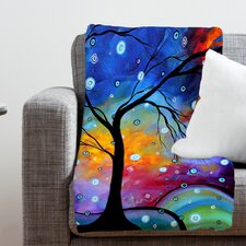 Madart Inc. Winter Sparkle Polyester Fleece Throw Blanket