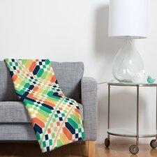 Budi Kwan Retrographic Rainbow Polyesterrr Fleece Throw Blanket