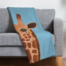 Mandy Hazell Gentleman Giraffe Polyester Fleece Throw Blanket