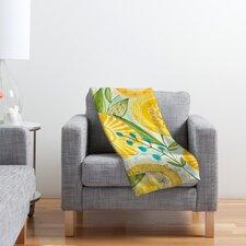 Cori Dantini Sun Burst Flowers Polyester Fleece Throw Blanket