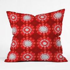 Julia Da Rocha Retro Flowers Throw Pillow