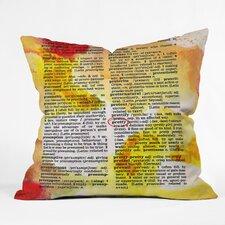 Susanne Kasielke Pretty Dictionary Art Throw Pillow