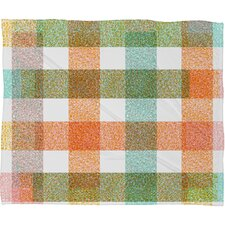 Zoe Wodarz Pastel Plaid Fleece Throw Blanket