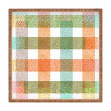 Zoe Wodarz Pastel Plaid Square Tray