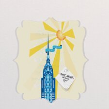 Jennifer Hill New York City Chrysler Building Quatrefoil Memo Board