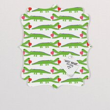 Andi Bird Alligator Love Quatrefoil Memo Board