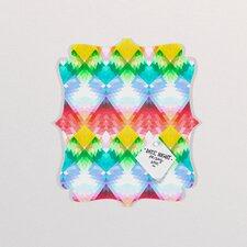 Deniz Ercelebi Crystal Rainbow Quatrefoil Memo Board