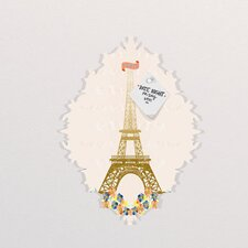 Jennifer Hill Paris Eiffel Tower Baroque Bulletin Board