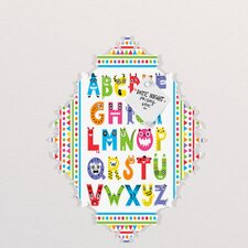 Andi Bird Alphabet Monsters Baroque Memo Board