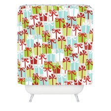 Andrea Victoria Jolly Gifts Woven Polyester Shower Curtain