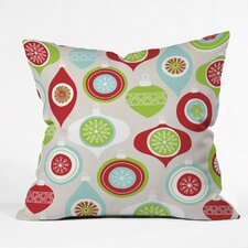 Andrea Victoria Jolly Ornaments Throw Pillow