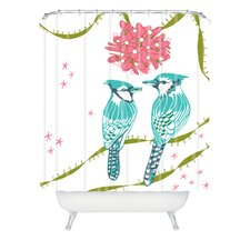 Betsy Olmsted Holiday Birds Woven Polyester Shower Curtain