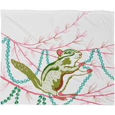 Betsy Olmsted Holiday Chipmunk Plush Fleece Throw Blanket
