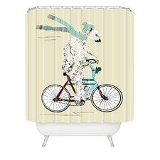 Brian Buckley Polar Bear Days Woven Polyester Shower Curtain