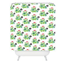 Andi Bird Help Me Holiday Woven Polyester Shower Curtain