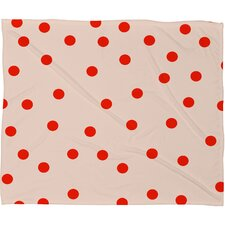 Garima Dhawan Vintage Dots Plush Fleece Throw Blanket