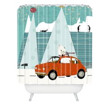 Brian Buckley The Polar Express Woven Polyester Shower Curtain