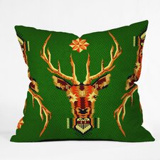 Chobopop Geometric Deer Throw Pillow