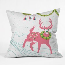 Betsy Olmsted Holiday Deer Throw Pillow