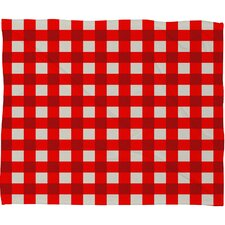 Holli Zollinger Gingham Plush Fleece Throw Blanket