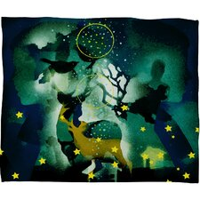 Randi Antonsen The Nordic Night Plush Fleece Throw Blanket