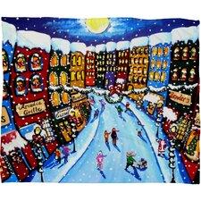 Renie Britenbucher Christmas Shoppers Plush Fleece Throw Blanket