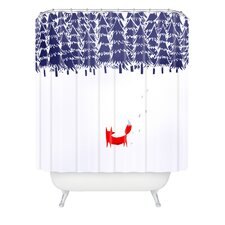 Robert Farkas Alone In The Forest Woven Polyester Shower Curtain