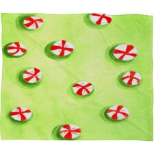 Rosie Brown Christmas Candy Plush Fleece Throw Blanket