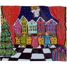 Renie Britenbucher Christmas Angel Plush Fleece Throw Blanket