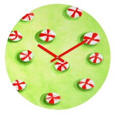 Rosie Brown Christmas Candy Wall Clock