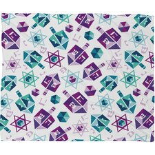 Zoe Wodarz Dreidel Facets Plush Fleece Throw Blanket