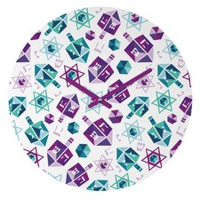 Zoe Wodarz Dreidel Facets Wall Clock