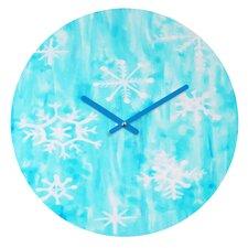Rosie Brown Snowing Wall Clock