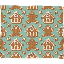 Sabine Reinhart Christmas Kitchen Plush Fleece Throw Blanket