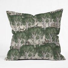 Belle13 My Deer Secret Forest Throw Pillow