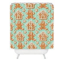 Sabine Reinhart Christmas Kitchen Woven Polyester Shower Curtain