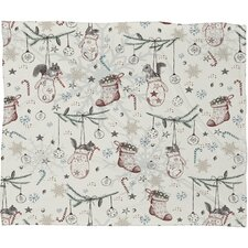 Belle 13 Squirrel Heavenly Christmas Plush Fleece Throw Blanket