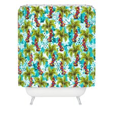 Aimee St Hill Tropical Christmas Woven Polyester Shower Curtain