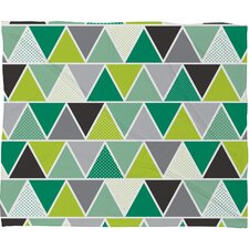 Heather Dutton Emerald Triangulum Plush Fleece Throw Blanket