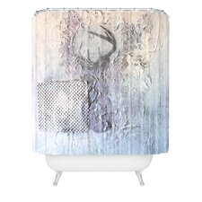 Kent Youngstrom Holiday Deer Woven Polyester Shower Curtain